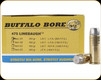 Buffalo Bore - 475 Linebaugh TM - 420 Gr - Hard Cast LBT-Lead Flat Nose - 20ct - 2A