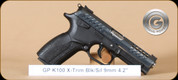 "Grand Power - 9mm - K100 X-Trim - Black Synthetic/Blued, 4.3""Barrel, 4 Interchangable Grips, 2 Mags, SKU# 8588005808026"
