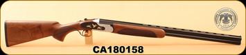 """Huglu - 20Ga/3""""/28"""" - 103F - O/U, Turkish Walnut/Blued Barrel/Hand Engraved-birds on Black Receiver, M.Choke, S/N CA180158"""