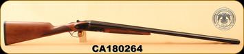 "Huglu - 12Ga/3""/30"" - 201A - SxS - English Stock, Turkish Walnut/Case Hardened/Blued Barrel - 5pc. M.Choke, SKU# 8681744307369, S/N CA180264"