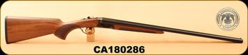 "Huglu - 28Ga/2.75""/26"" - 200A - SxS - Turkish Walnut/Case Hardened Receiver/Trigger Guard/Blued Barrel, S/N CA180286"