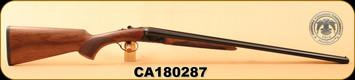 "Huglu - 28Ga/2.75""/26"" - 200A - SxS - Turkish Walnut/Case Hardened Receiver/Trigger Guard/Blued Barrel, S/N CA180287"