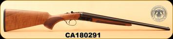"Huglu - 410Ga/3""/20"" - 200A - SxS - Turkish Walnut/Case Hardened Receiver/Trigger Guard/Blued Barrel, S/N CA180291"