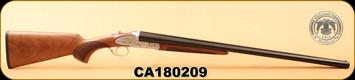 """Huglu - 12Ga/3""""/28"""" - 200AC - Turkish Walnut/Silver Receiver w/Hand Engraved Gold inlay/Blued Barrel, S/N CA180209"""