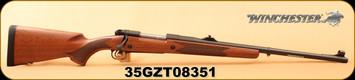 "Winchester - 458WinMag - Model 70 70 Safari Express - Bolt Action Rifle - Walnut/Blued, 24"" Barrel, 3 Rounds, Adjustable Sights, Mfg#535204144, S/N 35GZT08351"