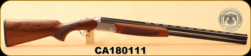 "Huglu - 12Ga/3""/28"" - Hawk - SP100 O/U - Turkish Walnut/Blued Barrel/Silver Receiver, 5pc Mobile Choke, S/N CA180111"