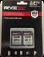 Ridgetec - High Speed Memory Card - 8 GB - Double Pack