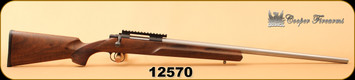"Used - Cooper - 204Ruger - Model 21 Varmint Extreme - AAA Claro Walnut/26"" stainless steel straight taper premium match barrel, c/w Ken Farrell rail"