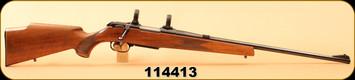 """Consign - Krico Kriegeskorte - 222Rem - Model K601 - Wd/Bl, 24""""Barrel, Set trigger, c/w Burris 1"""" Rings"""
