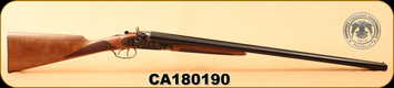 "Huglu - 12Ga/3""/30"" - 201HRZ - Turkish Walnut/Blued barrel/Case Hardened, HRZ Hammer, English Stock, S/N CA180190"
