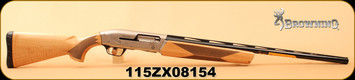 "Consign - Browning - 12Ga/3""/28"" - Maxus Hunter Maple - Semi Auto Shotgun - Maple Wood Stock/Blued, Lightweight Vent Rib Barrel, Mfg# 011646304 - Low rounds - In box with all accessories"