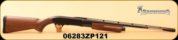 "Browning - 20Ga/3""/26"" - BPS Field - Pump Action Shotgun - Satin Walnut Stock/Matte Blued Finish, 4 Rounds, Mfg# 012284605, S/N 06283ZP121"