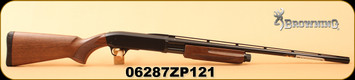 "Browning - 20Ga/3""/26"" - BPS Field - Pump Action Shotgun - Satin Walnut Stock/Matte Blued Finish, 4 Rounds, Mfg# 012284605, S/N 06287ZP121"