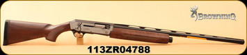 "Browning - 12Ga/3""/28"" - Silver Hunter - Semi Auto Shotgun - Turkish Walnut Stock/Bi-Tone Silver/Matte Black, Mfg#011413304, S/N 113ZR04788"