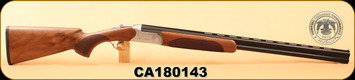 "Huglu - 20Ga/3""/28"" - 103C - O/U, Turkish Walnut/Silver Reciever w/gold inlay birds/Blued Barrel, single trigger, 5pc. Mobile Choke, S/N CA180143"