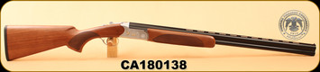 "Huglu - 20Ga/3""/28"" - 103C - O/U, Turkish Walnut/Silver Reciever w/gold inlay birds/Blued Barrel, single trigger, 5pc. Mobile Choke, S/N CA180138"