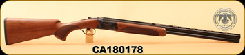 "Huglu - 28Ga/2.75""/26"" - 103D - O/U - Turkish Walnut/Case Hardened Receiver/Blued, Mobile Choke, S/N CA180178"
