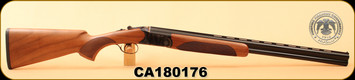 "Huglu - 20Ga/3""/26"" - 103D - O/U - Turkish Walnut/Case Hardened Receiver/Blued, Mobile Choke, S/N CA180176"