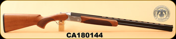 "Huglu - 20Ga/3""/28"" - 103D - O/U - Turkish Walnut/Engraved Silver Receiver/Blued, Mobile Choke, S/N CA180144"