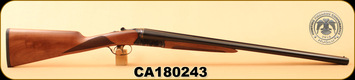 "Huglu - 12Ga/3""/26"" - 202B - SxS - Turkish Walnut English Stock/Case Hardened Receiver/Blued Barrel, Mobile Chokes, S/N CA180243"