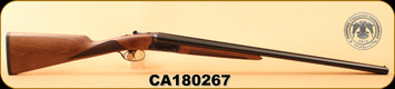 "Huglu - 20Ga/3""/26"" - 202B - SxS - Turkish Walnut English Stock/Case Hardened Receiver/Blued Barrel, Mobile Chokes, S/N CA180267"