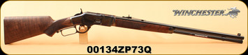 "Winchester - 45Colt - Model 1873 Deluxe Sporter - Lever Action Rifle - Grade V Walnut Stock/Color Case/Blued Finish, 24""Barrel, 1/2 Oct, 14 Rounds, S/N 00134ZP73Q"