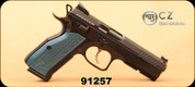 CZ - 9mm - Shadow 2 - Semi-Auto Pistol - Black w/ Blue Grips, 10 Round, Adjustable Sights - Mfg# 0424-0741-EJMFASX