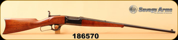 "Consign - Savage - 25-35 - Model 1899 - Lever Action - Wd/Bl, 26""Barrel, Original Lyman Tang Sight"