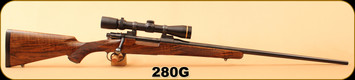 "Consign - Mauser 98 Custom - 280Gibbs - Select Walnut/Blued, 24""Barrel, c/w Dies, Brass 2 boxes AI, Leupold VX-III 2.5-8x36, Duplex"