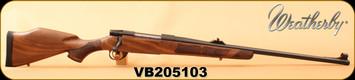 "Weatherby - 375H&H - Vanguard Safari - European Walnut/Blued, 24"", Two-Stage Adjustable Trigger, S/N VB205103"