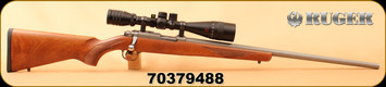 "Consign - Ruger - 17HMR - Model 77/17 - American Walnut/Matte Stainless, 24""Barrel, c/w Redfield Revenge 6-18x44, AO Matte - Accu-Ranger reticle - Very low rounds"