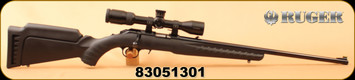 "Consign - Ruger - 22WMRF - American Rimfire - Black Synthetic/Blued, 22""Barrel, c/w Nikon P-RimFire 2-7x32 BDC 150 Reticle, matte black - Very low rounds"
