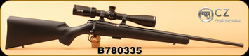 "Consign - CZ - 22LR - 455 American - Black Synthetic/Gloss Blued, 20.5""Barrel, c/w CZ 455 Dovetail rings, Mainstream Ind. Trigger kit 1.5#, Bushnell Rimfire, 6-18x40 SF Scope, Duplex reticle - calibrated turret - Very low rounds"