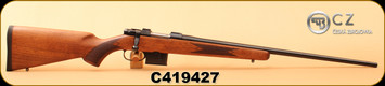 "CZ - 6.5Grendel - 527 American - American Style Turkish Walnut/Blued, 23.5""Barrel, 1:8"" Twist, 5rd detachable magazine, S/N C419427"