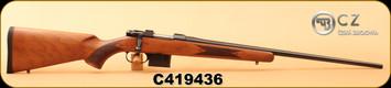 """CZ - 6.5Grendel - 527 American - American Style Turkish Walnut/Blued, 23.5""""Barrel, 1:8"""" Twist, 5rd detachable magazine, S/N C419436"""