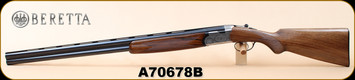 "Consign - Beretta - 12Ga/2.75""/30"" - S57E - O/U - Walnut/Engraved Receiver/Blued, Vent Rib Barrel, Full"