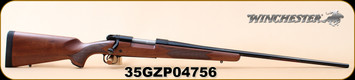 "Winchester - 338Win - 70 Sporter - Bolt Action Rifle - Walnut/Brushed Polished Finish, 26"" Barrel, 5 Rounds Mfg# 535202236, S/N 35GZP04756"