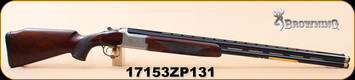"Browning - 12Ga/3""/30"" - Citori B525 Liberty Light - Walnut/Nickel Finish Engraved Receiver/Blued, Vent Rib, Extended Diana Chokes (4), IM IC, M, F, S/N 17153ZP131"
