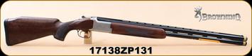 "Browning - 12Ga/3""/28"" - Citori B525 Liberty Light - Left Hand - Walnut/Nickel Finish Engraved Receiver/Blued, Vent Rib, Extended Diana Chokes (4), IM IC, M, F, S/N 17138ZP131"