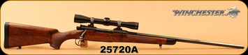 "Consign - Winchester - 338WinMag - Model 54 - Walnut/Blued, 24"" Octagon Barrel, Hand engraved floorplate & trigger guard, c/w Leupold M8 4x scope, Duplex Reticle"
