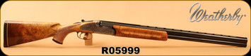 """Consign - Weatherby - 12Ga/2.75""""/28"""" - Regency - Over/Under - High Grade Claro Walnut/Engraved Receiver/Blued, Chokes: Upper - M, Lower - F - Made in Italy - In original box"""