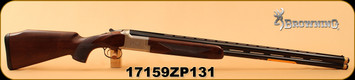 "Browning - 12Ga/3""/30"" - Citori B525 Liberty Light - Walnut/Nickel Finish Engraved Receiver/Blued, Vent Rib, Extended Diana Chokes (4), IM IC, M, F, S/N 17159ZP131"