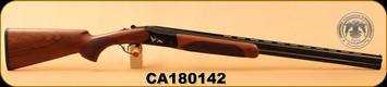 "Huglu - 20Ga/3""/28"" - 103C - O/U, Turkish Walnut/Black Reciever w/gold inlay birds/Blued Barrel, single trigger, 5pc. Mobile Choke, SKU# 8681715390277, S/N CA180142"