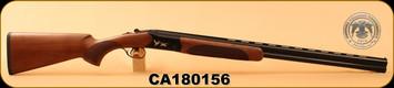 "Huglu - 20Ga/3""/28"" - 103C - O/U, Turkish Walnut/Black Reciever w/gold inlay birds/Blued Barrel, single trigger, 5pc. Mobile Choke, SKU# 8681715390277, S/N CA180156"