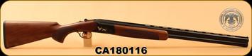 "Huglu - 12Ga/3""/28"" - 103C - O/U, Turkish Walnut/Black Reciever w/gold inlay birds/Blued Barrel, single trigger, 5pc. Mobile Choke, SKU# 8681715390239, S/N CA180116"