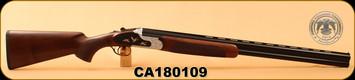"Huglu - 12Ga/3""/28"" - 103F - O/U, Turkish Walnut/Black & Silver Reciever w/gold inlay birds/Blued Barrel, single trigger, 5pc. Mobile Choke, SKU# 8681715390413, S/N CA180109"