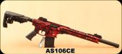 "Derya - 12Ga/3""/20"" - MK-12 AS-106S - Canadian Edition - Semi-Auto Shotgun - Blurred Red w/ White Maple Leaf, Synthetic Stock, AR Flip Up Sights, Barrel Shroud, 3 Mobile Choke"