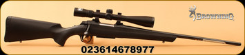 "Browning - 6.5Creedmoor - AB3 Stalker Combo - Bolt Action Rifle - Black Composite/Blued, 22""Barrel, 5 Rounds, c/w Nikon Buckmaster II 4-12x40 Scope BDC"