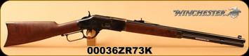 "Winchester - 44-40Win - 1873 Short - Lever Action - Grade 3 Walnut/Case Hardened Receiver /Blued, 20"" 10rds, Mfg# 534202140, S/N 00036ZR73K"