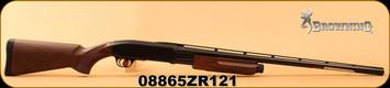 "Browning - 12Ga/3""/28"" - BPS Field - Pump Action Shotgun - Satin Walnut/Matte Blued, 4 Rounds, Mfg# 012284304, S/N 08865ZR121"
